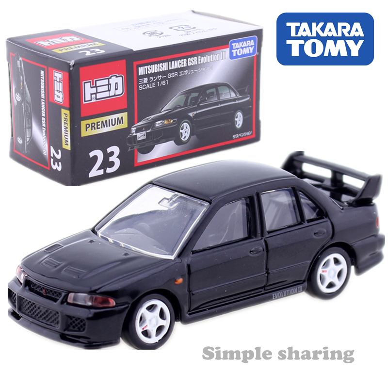 Takara Tomy TOMICA Premium No. 23 Mitsubishi Lancer GSR Evolution III 1:61 AUTO CAR Motors Vehicle Diecast Metal Model New Toys
