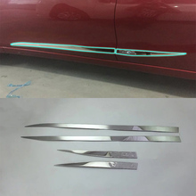 ABS Chrome Exterior side door mirror Cover Trim  For Nissan 2017 Tiida car accessories