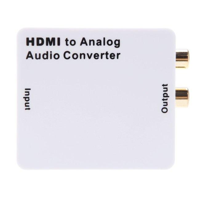 EDT-HDMI Entrada R/L Adaptador Convertidor de Señal Digital de Salida de Audio Analógico