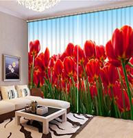 3D curtains Flower curtain home window living room Bedroom girls room photo 3d curtains