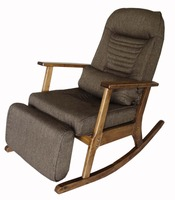 Garden Recliner For Elderly People Japanese Style Chair Recliner Chair With Footstool Armrest Modern Indoor Wooden