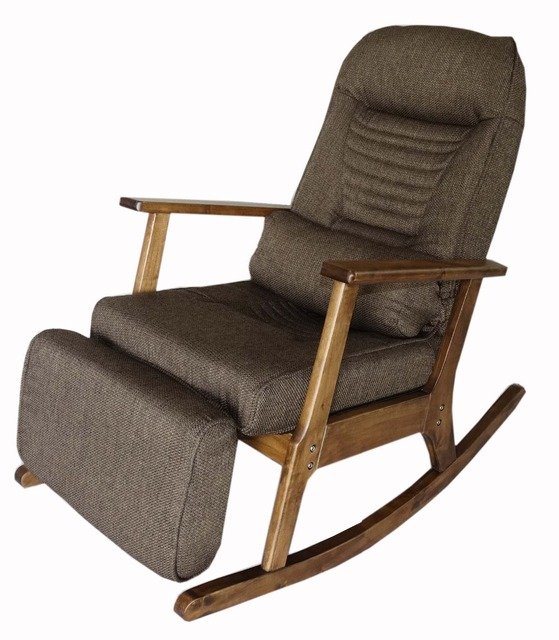 Garden Recliner For Elderly People Anese Style Armchair With Footstool Armrest Modern Indoor Wooden Rocking Chair