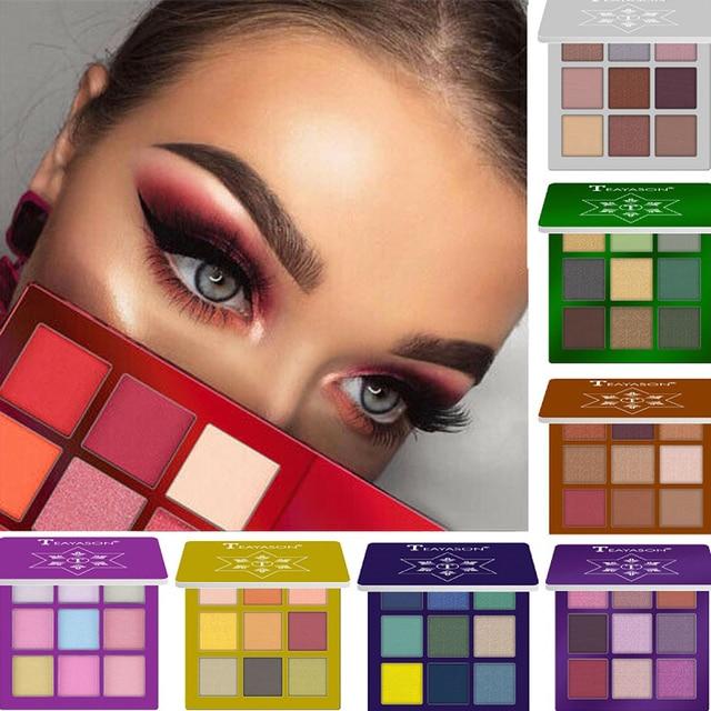 New 9 Colors Glitter Eyeshadow Makeup Pallete Matte Eye shadow Palette Shimmer Diamond Eyeshadow Powder Pigment Cosmetics