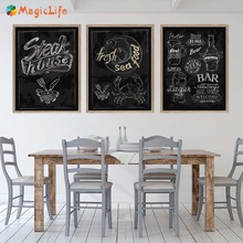 Sandwich Kebab Ice Cream Hot Dog Canvas Painting Snack Bar Poster Nordic Wall Pictures Western Restaurant Decor Unframed цена