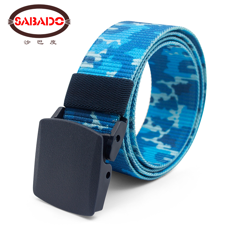 1 5 inch Men CS WarGame Equipment Camouflage Tactical Belts Army Paintball Nylon Belt Military Combat Plastic Buckle Waistband in Waist Support from Sports Entertainment
