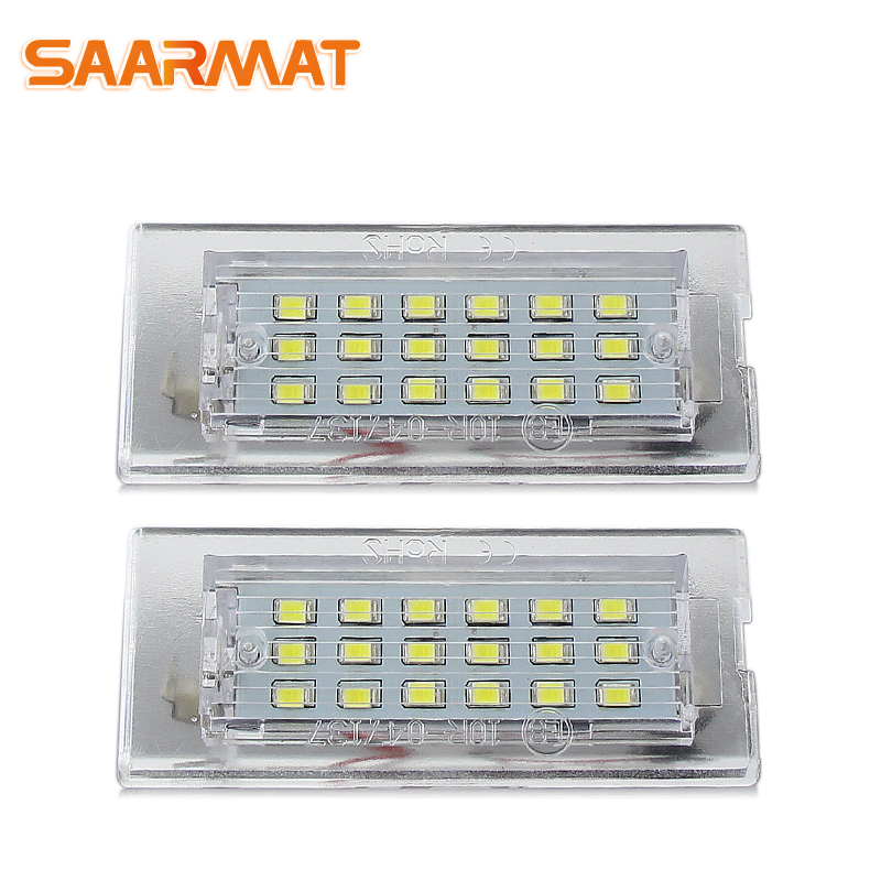 LED CANBUS Car No Error License Plate Lights bulb For BMW E53/X5 before facelift Auto accessories Number Plate Lamp White @12V urbanroad 2x 12v 3528 smd car led number license plate lights for bmw e46 4d 323i 325i 328i white led plate lamp bulb kit 6000k