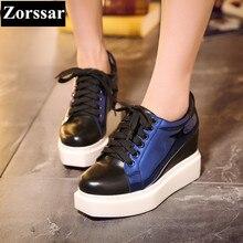 Zorssar 2017 font b Womens b font platform font b Shoes b font Genuine leather
