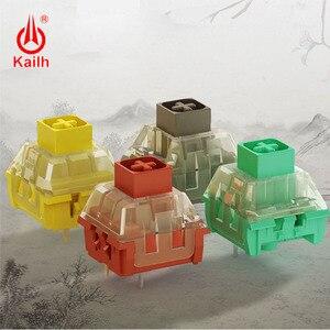 Image 5 - Kailh Switch box diy คีย์บอร์ด RGB/SMD สไตล์จีน series เคลือบสีเขียว Noble สีเหลือง Ancie