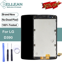Dinamico Promotion D390 Lcd For LG Optimus D290 Lcd F60 L Fino D295 Display With Touch Screen Digitizer Assembly With Frame