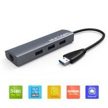 USB 3.0 Gigabit Ethernet адаптер 3-Порты и разъёмы USB 3.0 хаб шины w/10/100/1000 RJ45 Gigabit Ethernet LAN Порты и разъёмы конвертер центр wavlink