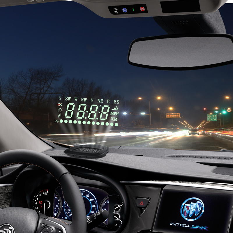 2016 top fashion real universal car hud head up display for all obd2 cars with gps warning. Black Bedroom Furniture Sets. Home Design Ideas