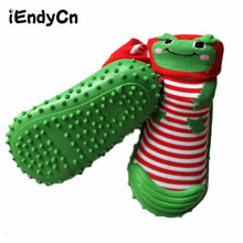 kidadndy Baby Girl Socks Baby with Rubber Soles Floor Sock Animal Socks Non-slip Bottom Lightweight Cotton Breathable Sock YD498 цены онлайн