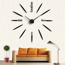 Art DIY Wall Clock 3D Mirror stickers Large Acrylic Clock Living Room Creative Home Decoration Simple Style Orologio Parete