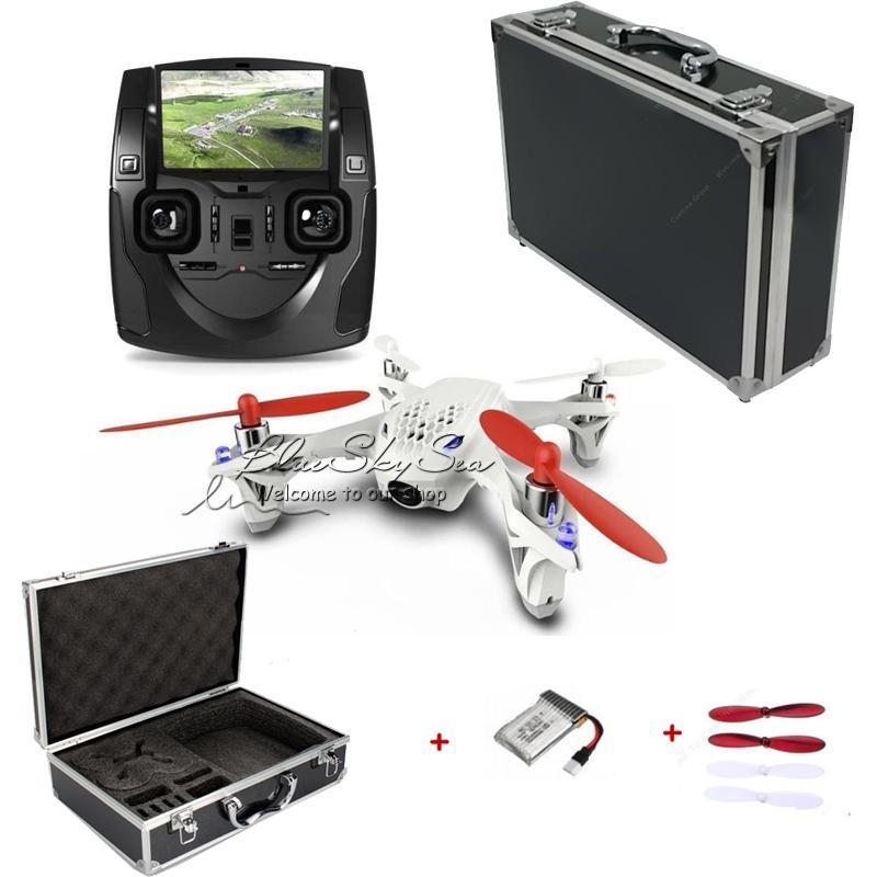 Free Shipping Hubsan X4 H107D Quadcopter W Live View FPV Carriying Case Box Battery Blades