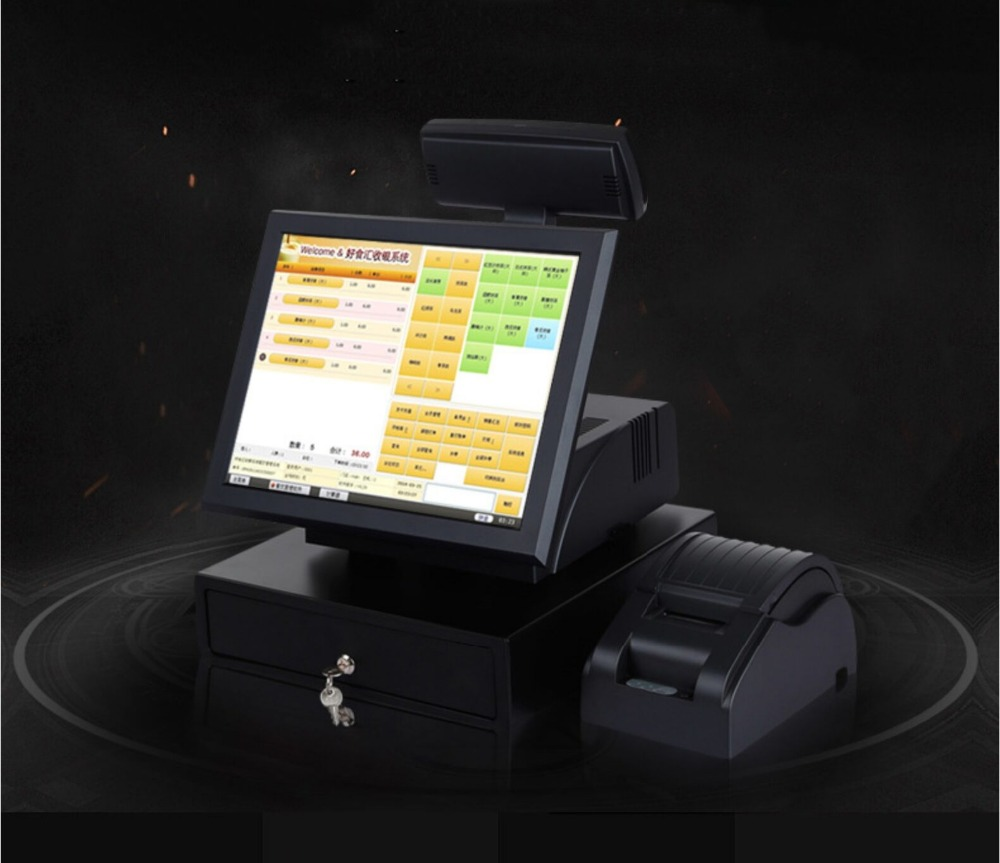 Multitouch 15 Inch Touch Screen Pos System With Glass+Glass