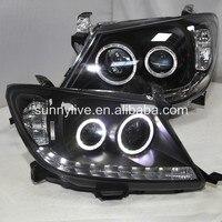 Светодио дный для TOYOTA HILUX VIGO светодиодный головной свет светодио дный LED angel eyes 2010 2004 год CN