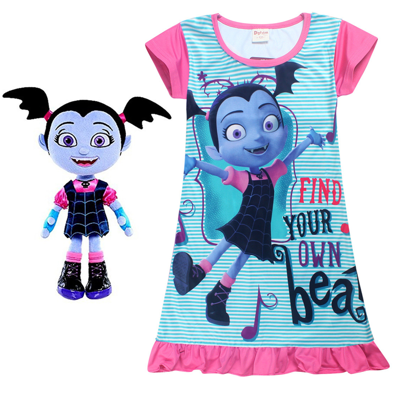 2018 New Junior Vampirina The Vamp Batwoman Girl dresses moana cosplay Costume for gril trolls party birthday Nightgown Vestidos new game dendy junior