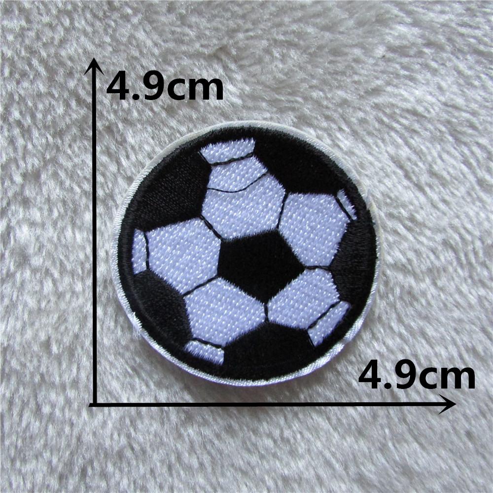 Patches for clothing high 50pcs soccer patches stripes for Applique decoration