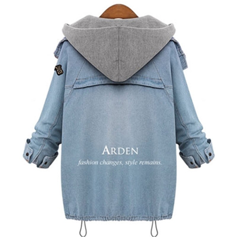 Hooded Drawstring Trends Jackets 2016 Fashion Autumn Winter Pockets Two Piece Outerwear Women Long Sleeve Buttons Blue Coat  (11)