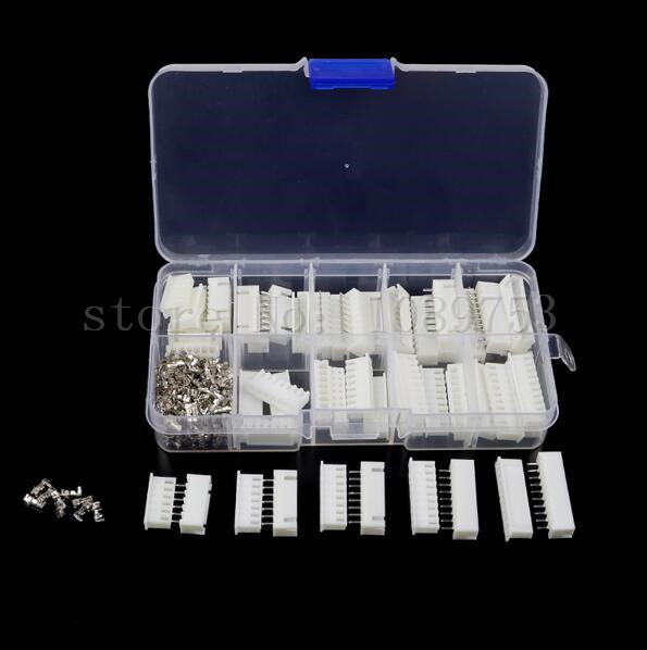 25 sets Kit in box 6p 7p 8p 9p 10pin 2.54mm Pitch Terminal / Housing / Pin Header Connector Wire Connectors Adaptor XH Kits