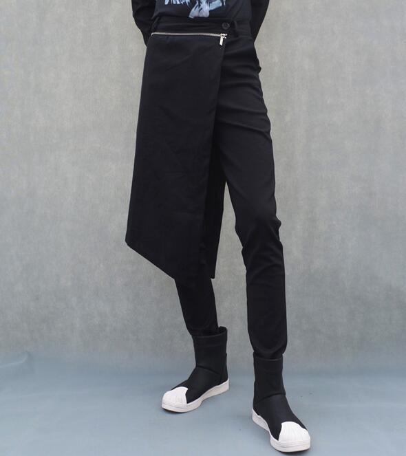2020 Spring New Hair Stylist Nightclubs Men Korean Culottes Feet Casual Trousers, Slim Stage Performances Punk Harem Pants