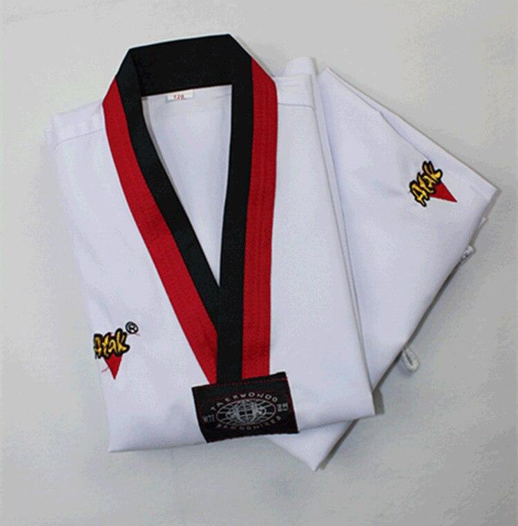 Новый взрослых детей тхэквондо униформа для детей белые длинные рукава таэквондо dobok Мужчины Женщины Тхэквондо одежда Каратэ костюм