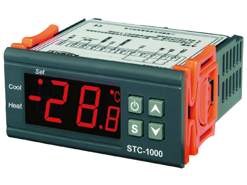 220V AC All-purpose Temperature Controller STC-1000 Thermostat With 2M sensor switch new original pneumatic ultra thin cylinder sda25x30