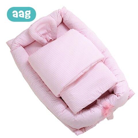 aag bebe cama berco portatil cama dormindo ninho de algodao infantil bebe cama de viagem
