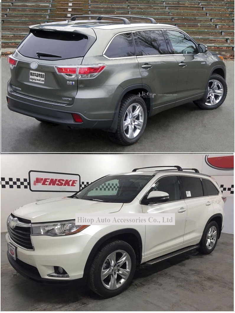 roof rack rail cross bar for toyota kluger highlander 2015 2019 4pcs set iso9001 quality 5years seller free shipping to asia