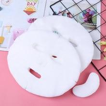 Masque de Compression Facial en tissu non tissé, 100 pièces/paquet, papier, soins de la peau, sec, jetable, serviette compressée, outil de bricolage
