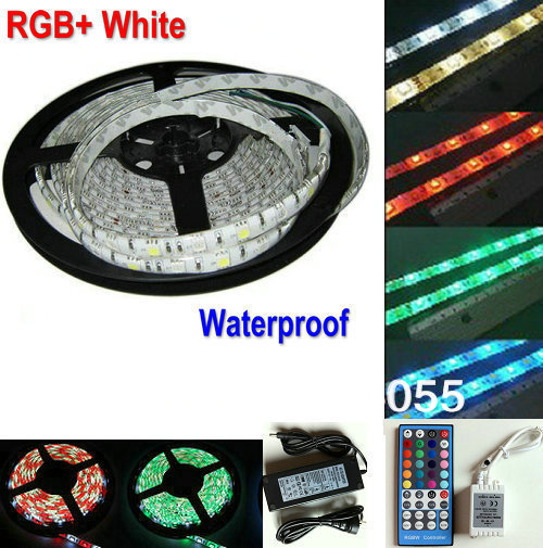 Led Lighting Discreet 5m Rgbw Smd5050 Flexible Led Strips Rope Lighting Rgb+w Rgb White Waterproof Ip65 12v 72led/m+40 Key Remote Controller+power Modern Techniques Lights & Lighting