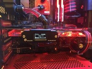 Image 3 - BYKSKI OLED תצוגה דיגיטלית טמפרטורת מים מד להשתמש עבור GPU בלוק מתאם להוסיף ברדיאטור G1/4 מדחום חיישן הולם