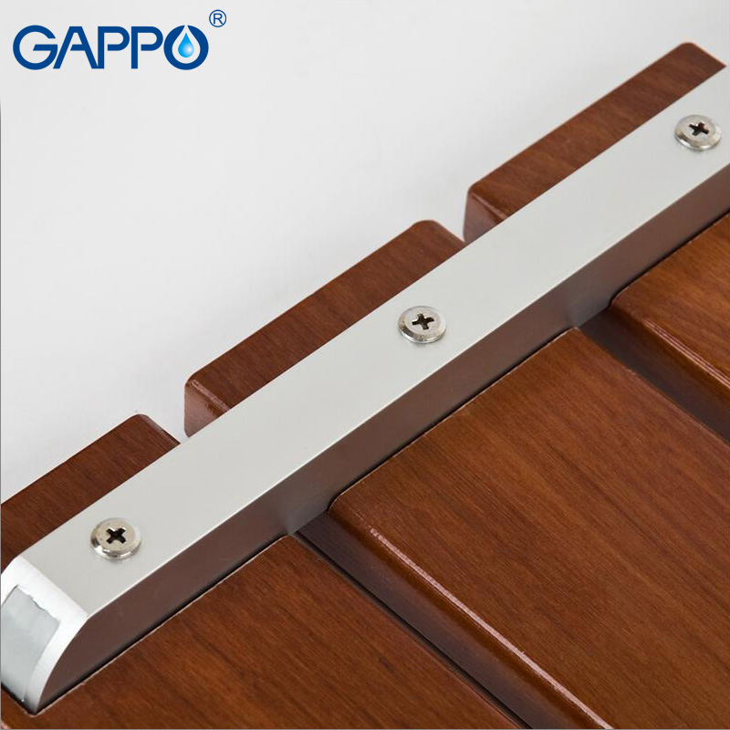 GAPPO wall mounted shower seats folding shower seat wooden bathroom ...