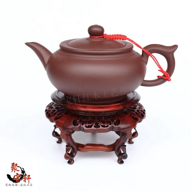 Red acid branch wood household act the role ofing is tasted handicraft furnishing articles vase flowerpot circular base solid wood carved wooden vase flowerpot tank round big base household act the role ofing is tasted handicraft furnishing