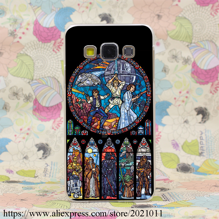 1726X Star Wars Stained Glass Hard Case Cover for Samsung A3 A5 7 8 J5 7 & Note 7 5 4 3 2 & Grand 2 & Prime