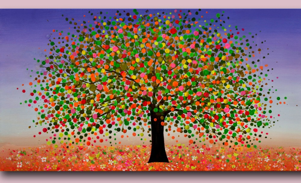 Photo Collection Colorful Tree Oil Paintings