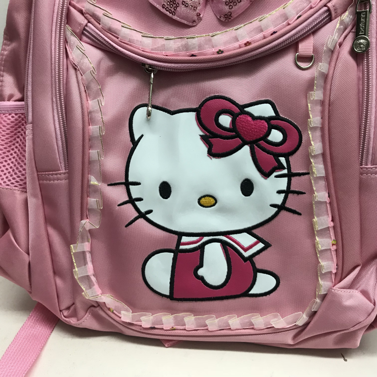 3pcs Hello Kitty Backpack for Girls Cartoon Waterproof Bowknot ... e68fa2c539