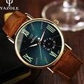 Yazole 2017 reloj de cuarzo de los hombres relojes de primeras marcas de lujo famoso reloj hombre reloj de pulsera reloj de cuarzo reloj relogio masculino