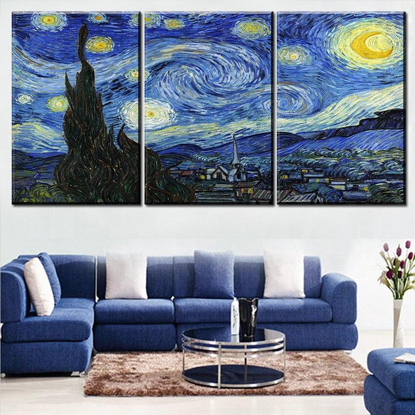 vangosh- ի լավագույն որակը The Starry Night- ի - Տնային դեկոր - Լուսանկար 2