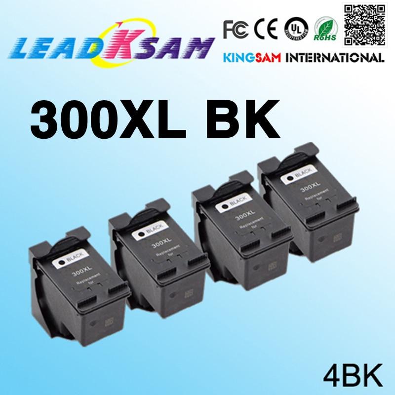 4x 300xl Black Ink Cartridges Compatible For Hp300 For Hp 300 Deskjet D1660 D2560 D2660 D5560 F2420 F2480