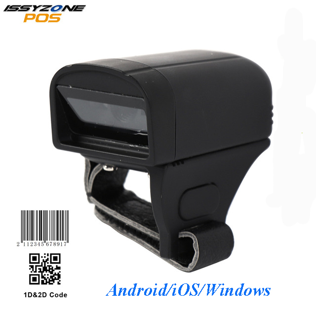 ISSYZONEPOS Ring Barcode Scanner Portable 2D/QR CCD 1D Bluetooth Barcode  Scanner for Logistic Warehouse Windows iOS Android