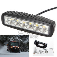 Universal 18W 1360LM Motocross Waterproof LED Spot Day Work Running Light Auxiliary Lamp For Motorcycle Car