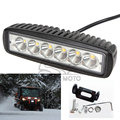 Universal 18W 1360LM Motocross Waterproof LED Spot Day Work Running Light Auxiliary Lamp for Motorcycle Car Truck Off Road ATV