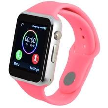 Apoio Relógio inteligente Sim Telefonema Cartão TF Empurre Mensagem Câmera Conectividade Bluetooth Para Telefone Android Melhor do que Q18 GT08