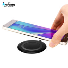 Ultra Thin Waterproof Mini Wireless Charging Pad Qi Fast Wireless Charger for Samsung Note 10 9 8 S9 Plus iPhone 11 Pro XR X XS