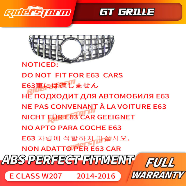 W207 GT 그릴 C207 GT 메르세데스 벤츠 E 쿠페 용 수직 그릴 Facelift 프론트 범퍼 스포츠 E200 E320 E350 E400 프론트 그릴