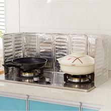 Полезный для дома и кухни газовая плита перегородка пластина алюминиевая фольга изоляционная доска изоляция приготовление горячей смазки брызг перегородка