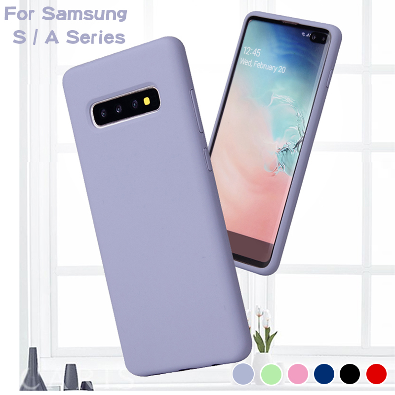 Protector Case on For <font><b>Samsung</b></font> Galaxy S 9 8 10Plus <font><b>10E</b></font> S8 S9 S10 Plus S10E S10Plus Note8 Note9 Note 8 9 Summer Soft Silicone Case image