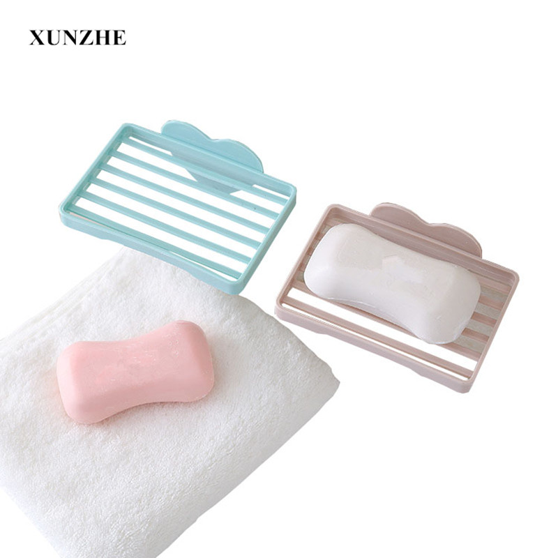 XUNZHE Soap box Love No trace Plastic Soap Dish Box Home Bathroom Accessories Set Soap D ...