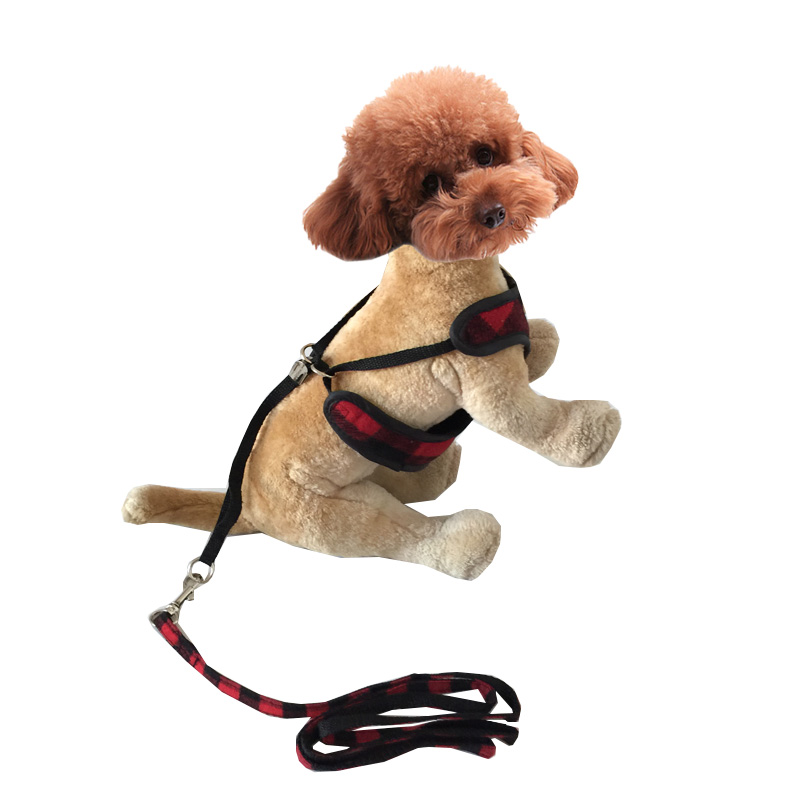 New Coming Red Grid Style Pet Dog Chest Harness Size S M L Free Shipping